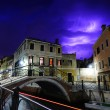 Thunderbolts in the sky of Venice — Stock Photo
