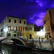 Purple thunderstorm in Venice — Stock Photo