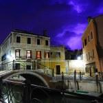 Purple thunderstorm in Venice — Stock Photo