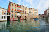 Palazzos (palaces) on Grand Canal in Venice — Stock Photo