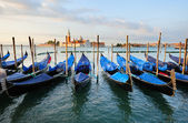 Landscape with gondolas in Venice — Stock Photo