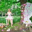 Stock Photo: Fairy in magic forest