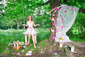 Fairy in the magic forest — Stock Photo