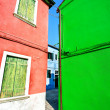 Architecture landscape on Burano island — Stock Photo
