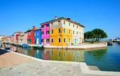 Burano island colorful scenery (Venice, Italy) — Stock Photo