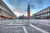 San Marco square at dawn — Stock Photo