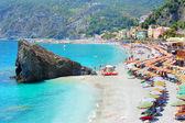 Beach in Italian village Monterosso — Stock Photo