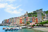 Porto Venere landscape with colorful houses — Stock Photo