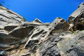 Rocky landscape background — Stock Photo