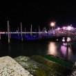 Stock Photo: Venetian lagoon at night