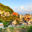 Bright sunset in Manarolvillage (Cinque Terre, Italy) — Stock Photo #15314767