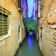 Narrow Venetian canal — Stock Photo
