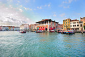 Venetian landscape of Grand Canal — Stock Photo
