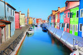 Burano island colorful scenery - Venice — Stock Photo