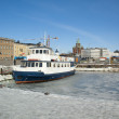 Helsinki harbor in springtime — Stock Photo
