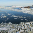 Icy Baltic sea near Helsinki — Stock Photo