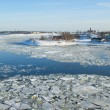 Snow covered islands in the icy Baltic sea — Stock Photo