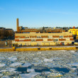 Helsinki port during the ice drift - Stockfoto