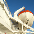 Lifeboat on a ferry - Stockfoto
