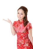 Asian woman introduce — Stock Photo