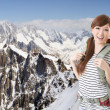 Traveling Asian woman - Stock Photo