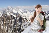 Viaggio donna asiatica — Foto Stock