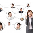 Stock Photo: Business network