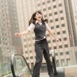 Business woman jump — Stock Photo