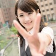 Peace or victory sign — Stock Photo #22667773