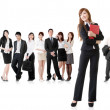Stock Photo: Business woman with her team