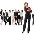 Foto Stock: Business woman with her team