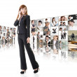 Business conferencing and global communications — Stock Photo