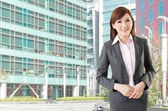 Confident Asian business woman — Stock Photo