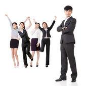 Team aziende eccitato — Foto Stock