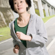 Stock Photo: Running sport mature womof Asian