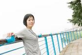 Sport mature Asian woman — Stock Photo