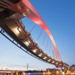 Taipei landmark bridge — Stock Photo