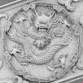 Drachen im tempel carving — Stockfoto