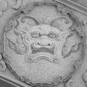 Qilin (Kylin, Chinese unicorn) carving at temple — Stockfoto