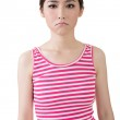Asian sad pretty young woman. — Stock Photo