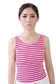 Asian sad pretty young woman. — Zdjęcie stockowe