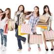 Attractive asian shopping women — Stock Photo