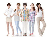 Young asian women posing for the camera — Stock Photo