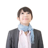 Mooie Aziatische zakenvrouw opzoeken — Stockfoto
