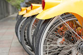 Back detail of bicycles — Stock Photo