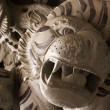 Chinese temple tiger statue — Stock Photo
