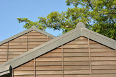 Wooden roof of building — Stock Photo