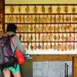Stock Photo: Womchoose wooden prayer tablets