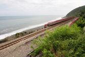 Demiryolu sahil şeridine — Stok fotoğraf