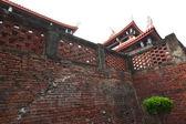 Wall of Tainan Chihkan Tower — 图库照片